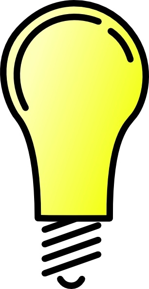 306x593 Light Bulb Clip Art Free Vector In Open Office Drawing Svg ( Svg