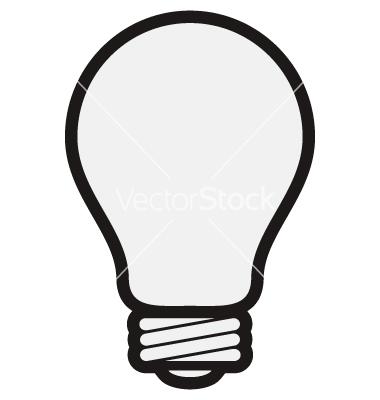 380x400 Light Bulb Clipart Vector