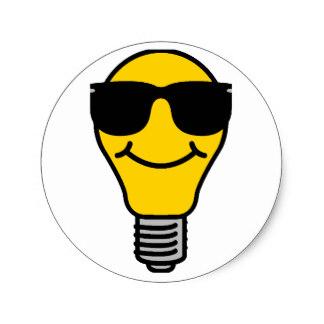 324x324 Lightbulb Stickers Zazzle