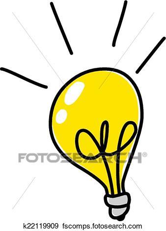 338x470 Clip Art Of Light Bulb Doodle K22119909
