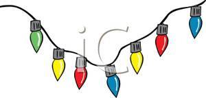 300x143 Colorful Row Of Assorted Christmas Light Bulbs Hanging On A Wire