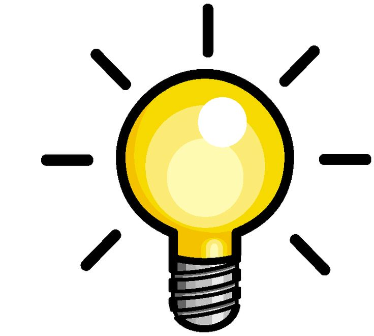 736x660 Bulb Clipart Graphic