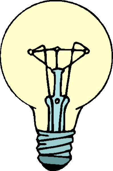 396x599 Lightbulb Clip Art Free Vector 4vector