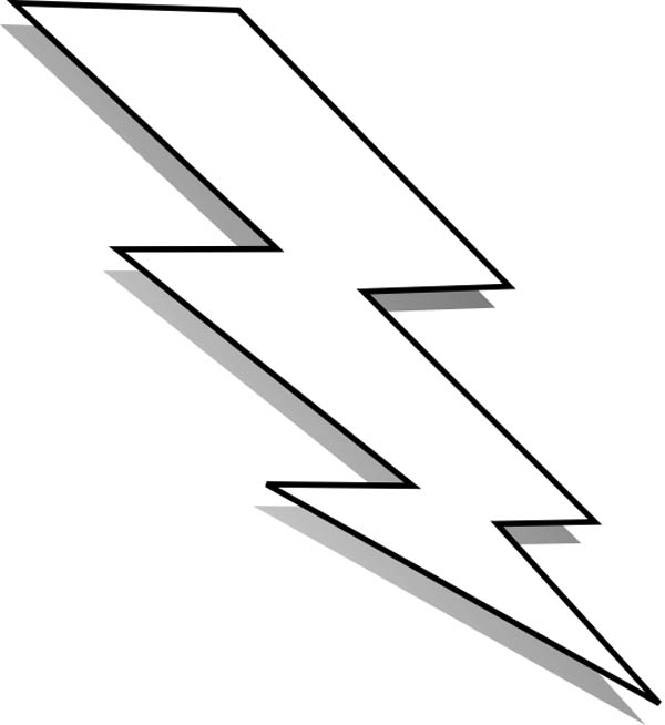 600x654 Lightning Bolt Black And White Clipart Kid 2