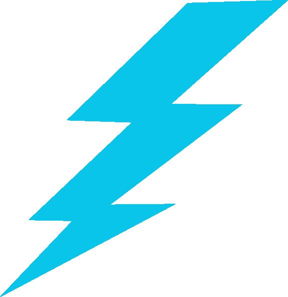 576x595 Blue Lightning Bolt Clip Art