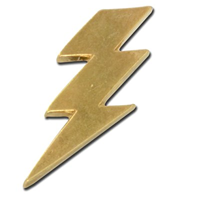 395x395 Lightning Bolt Lapel Pin Brooches And Pins Jewelry