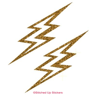 397x394 Lightning Bolt Decals