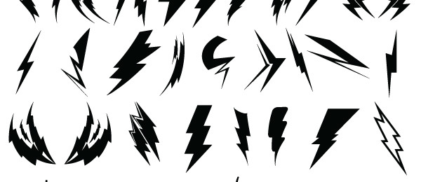 600x260 Lightning Bolts 44 Free Images And Brushes