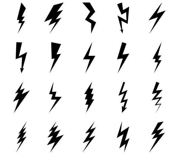 580x515 Lightning Bolt Icons By Ssstocker On @creativemarket All Things