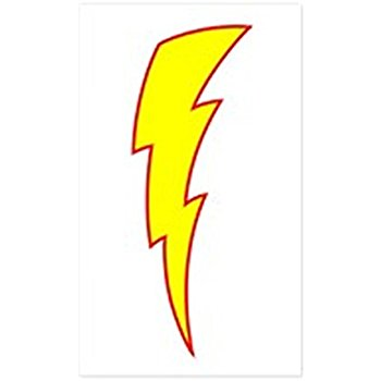 350x350 Lightning Bolts Reflective Decals Automotive