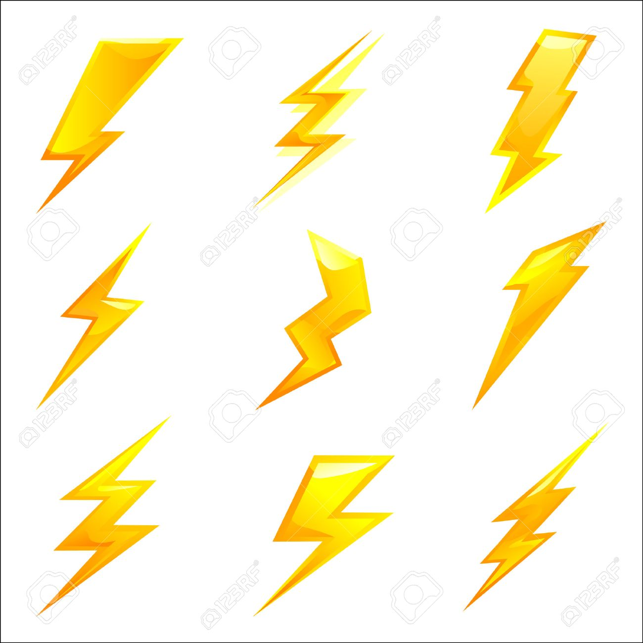 1300x1300 Yellow Lightning Bolt. Lightning Bolt Drawing Stock Images Royalty