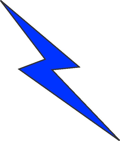 510x596 Blue Lightning Clip Art