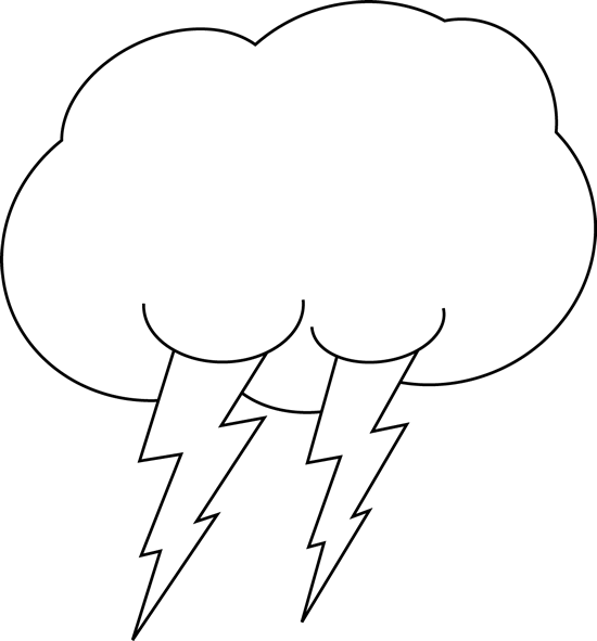 550x591 Lightning Clouds Clipart