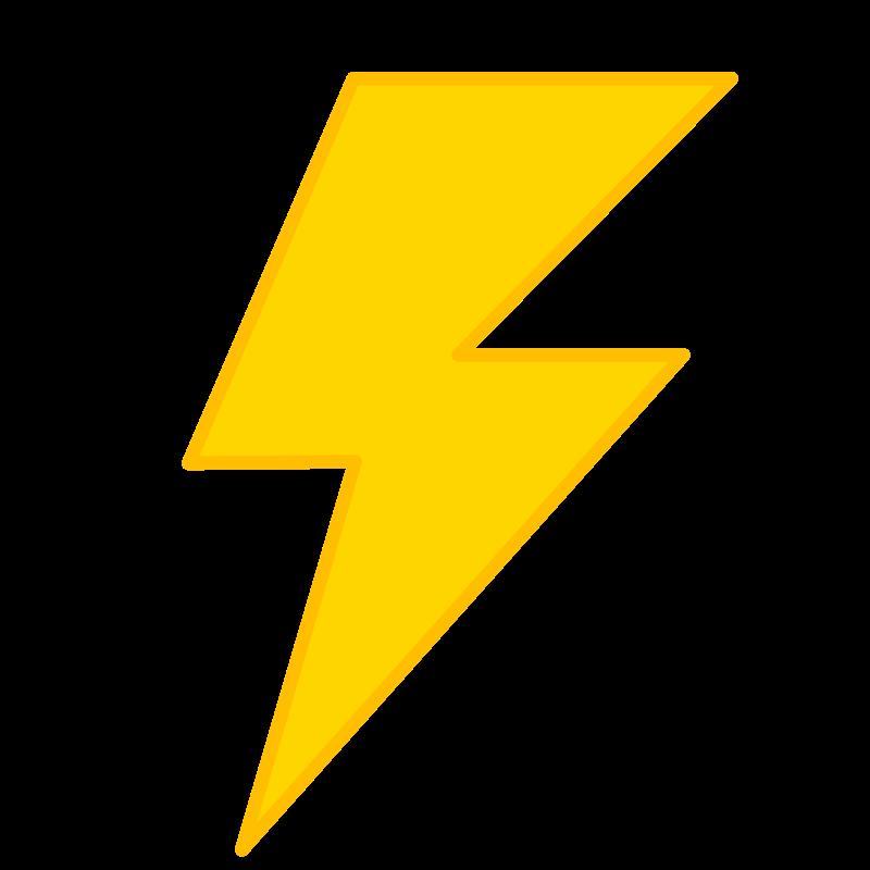 800x800 Cartoon Lightning Bolt Clipart