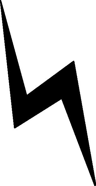 306x594 White Lightning Bolt Clip Art Vector Free Clipart Image