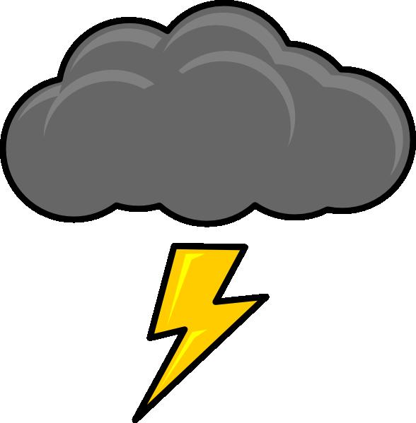 588x599 Cloud With Lightning Bolt Clip Art