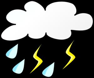 300x252 Cloud With Rain And Lightening Clip Art