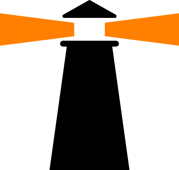 600x569 Lighthouse Black Orange Clip Art