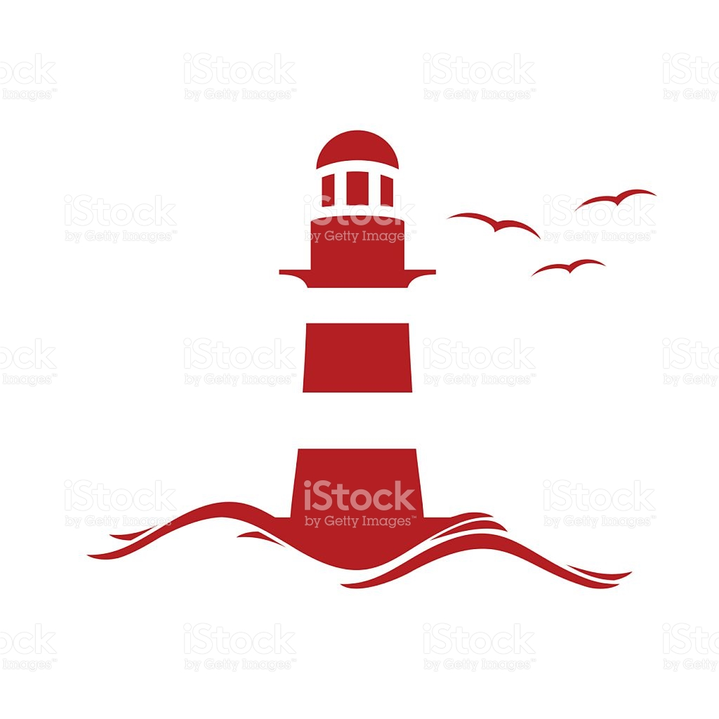 1024x1024 Lighthouse Clipart Red And Blue