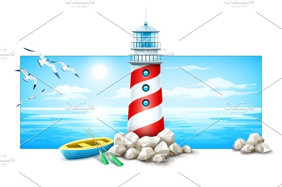 580x386 Marine Clipart Lighthouse