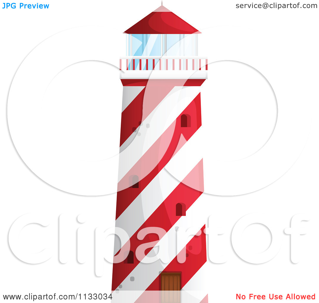 1080x1024 Red Lighthouse Clipart
