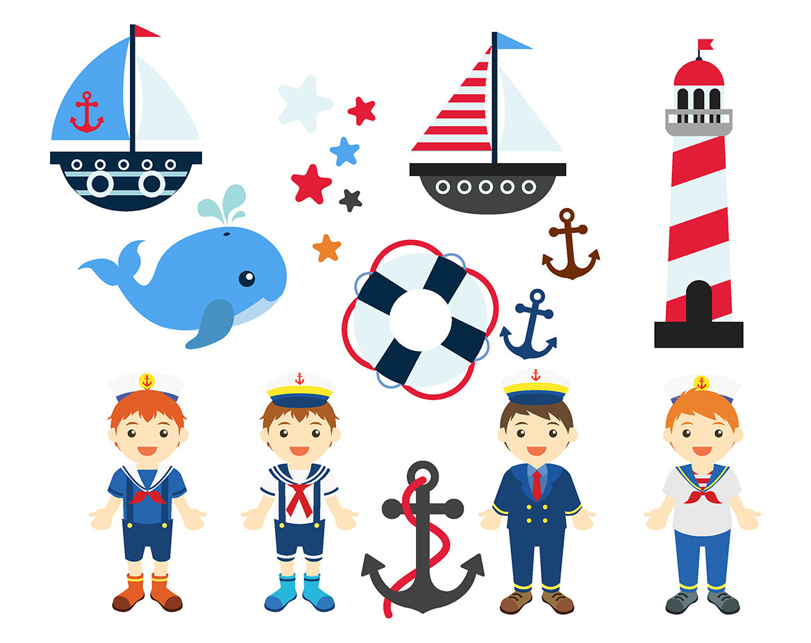 1168x927 Sale Nautical Boys Clipart Set Clip Art Anchor Whale Lighthouse
