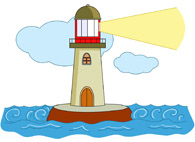 195x142 Free Lighthouses Clipart