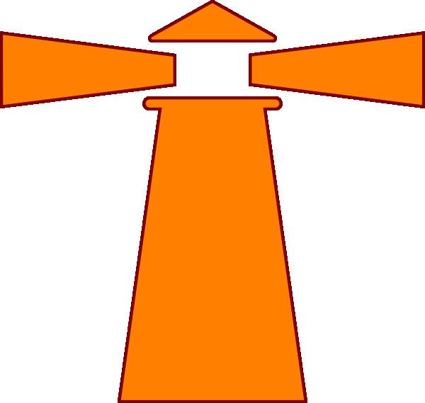 600x569 Lighthouse Orange Brown Clip Art