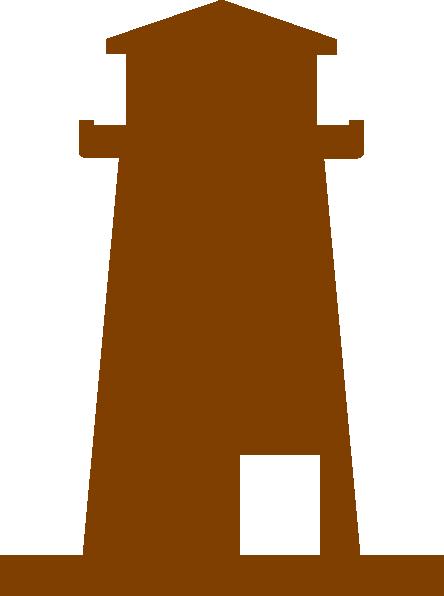 444x596 Brown Lighthouse Clip Art