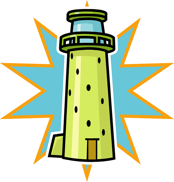 609x640 Free Cute Lighthouse Clipart Image