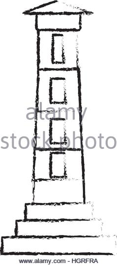 238x540 Drawing Lighthouse Building Tower Security Stock Photos Amp Drawing
