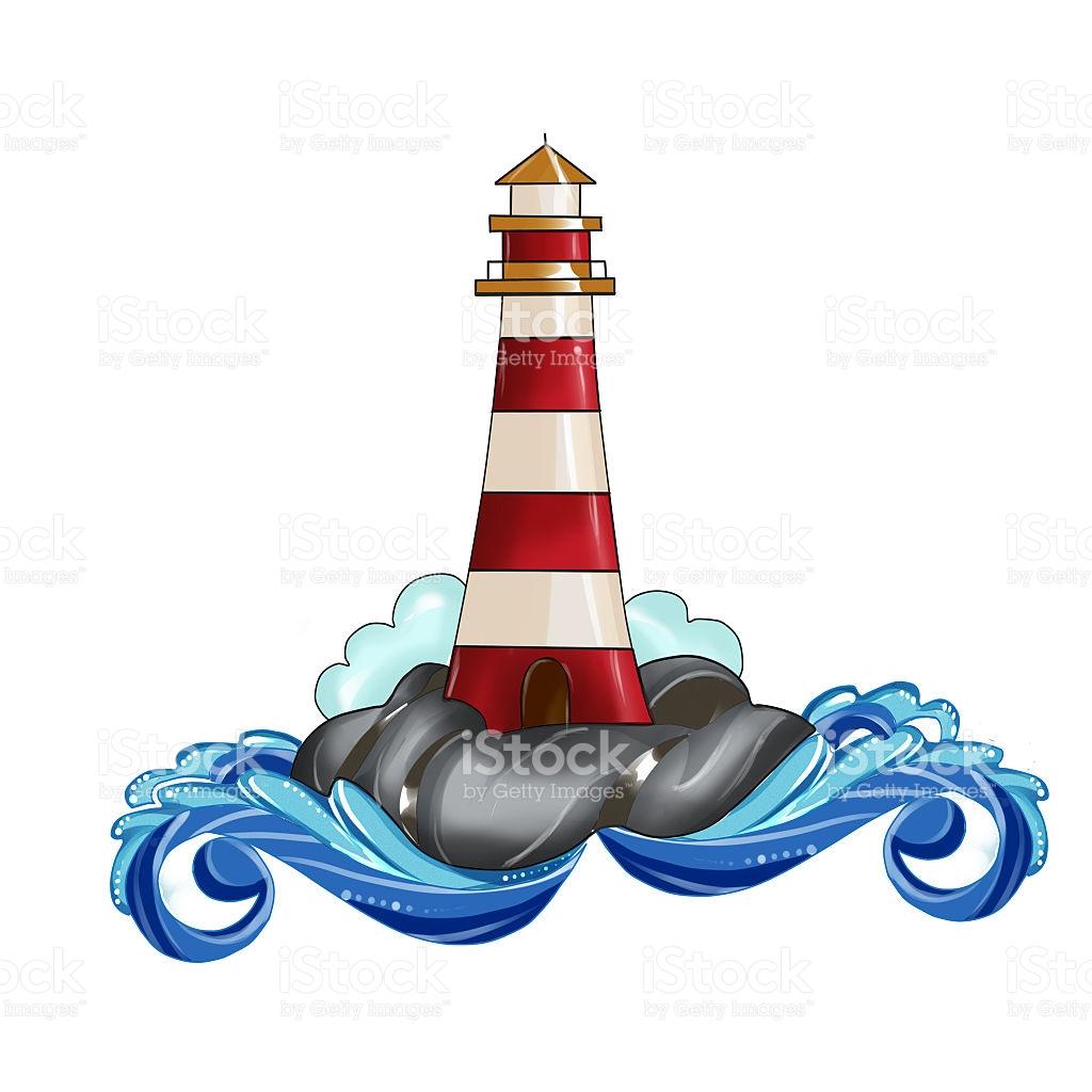 1024x1024 Drawn Lighthouse Illustration