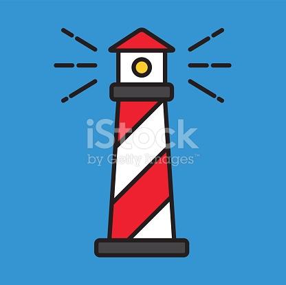 416x415 Lighthouse Clipart Simple