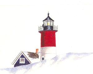 300x238 Nauset Lighthouse Paintings Fine Art America