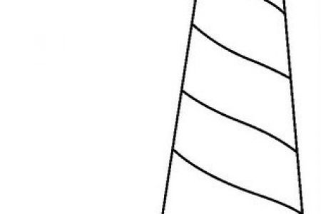 450x300 Simple Lighthouse Drawings