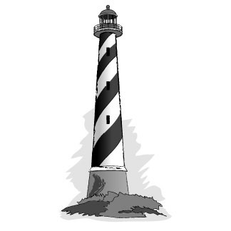 324x324 Free Lighthouse Clipart Black And White