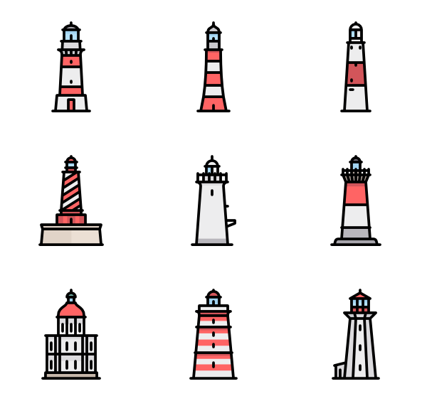 600x564 Lighthouse Icons