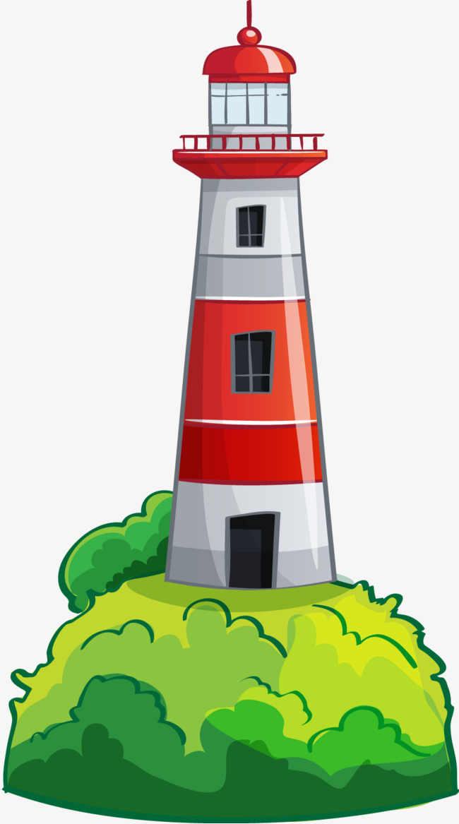 650x1167 Sea Lighthouse, Red, Cartoon, Lighthouse Png And Vector For Free