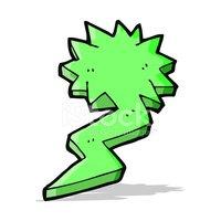 200x200 Cartoon Lightning Bolt Symbol Stock Vectors