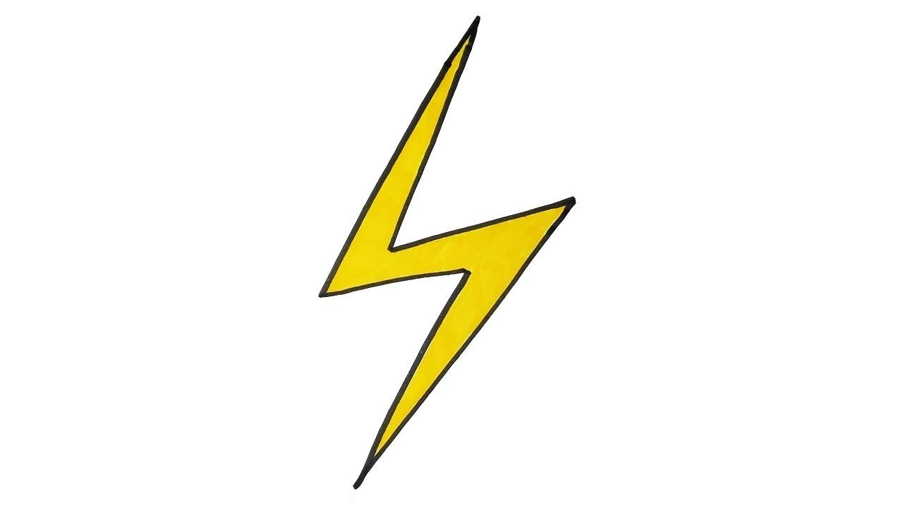 1280x720 Drawing A Lightning Bolt How To Draw A Cartoon Lightning Bolt