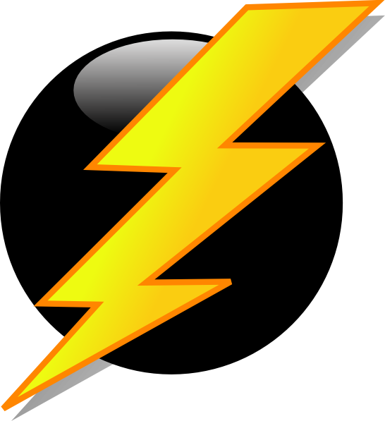 546x597 Lightning Icon Clip Art