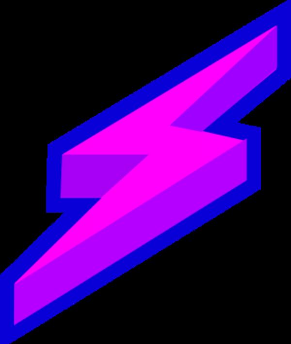 600x707 Lightning Bolt Purple Lighting Free Clipart Images Image 3