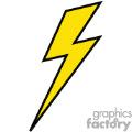 120x120 Royalty Free Lightning Bolt Outline 376990 Vector Clip Art Image