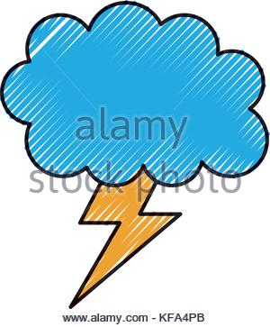 300x363 Cartoon Lightning Bolt And Cloud Stock Vector Art Amp Illustration