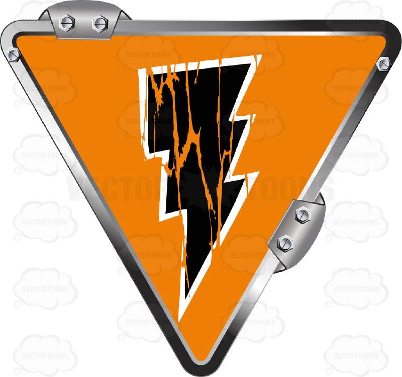 800x749 Black Lightning Bolt On Orange Inside Upside Down Grey Metal