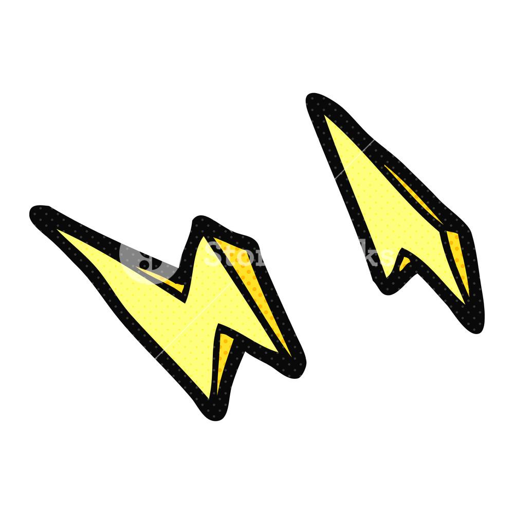 1000x1000 Freehand Drawn Cartoon Lightning Bolt Doodles Royalty Free Stock