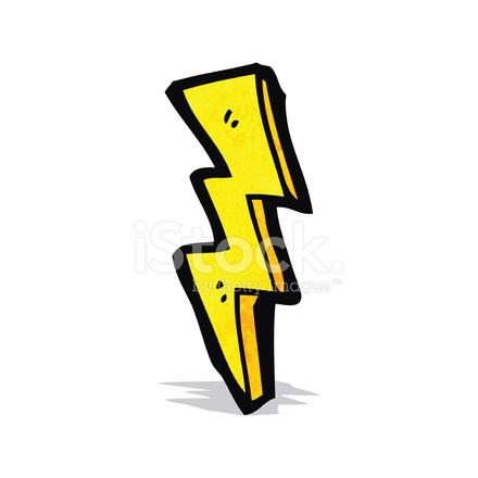 440x440 Cartoon Lighting Bolt Stock Vector