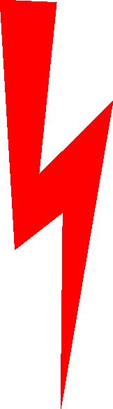 162x584 Red Lightning Bolt Clip Art