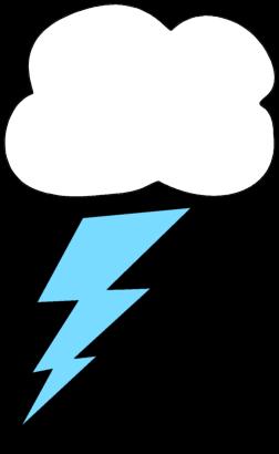 252x410 Clouds Clipart Lightning Bolt
