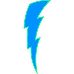 300x300 Lightning Bolt Straight Flash Clip Art